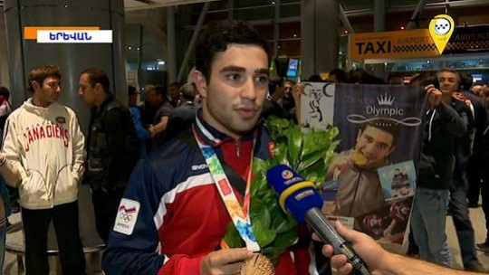 Պատանեկան օլիմպիական խաղերի մեր չեպիոնն ու մրցանակակիրը Արգենտինայից վերադարձել են հայրենիք