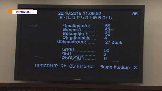 Սկանդալային նիստ ԱԺ-ում. ՀՀԿ-ն տապալեց Ընտրական օրենսգրքի ընդունումը